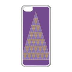 Pyramid Triangle  Purple Apple Iphone 5c Seamless Case (white) by Mariart
