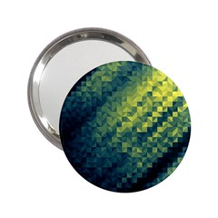Polygon Dark Triangle Green Blacj Yellow 2 25  Handbag Mirrors by Mariart