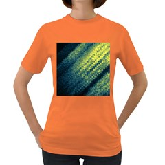 Polygon Dark Triangle Green Blacj Yellow Women s Dark T-shirt by Mariart