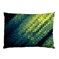 Polygon Dark Triangle Green Blacj Yellow Pillow Case by Mariart