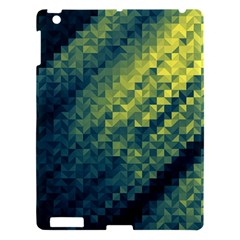 Polygon Dark Triangle Green Blacj Yellow Apple Ipad 3/4 Hardshell Case by Mariart