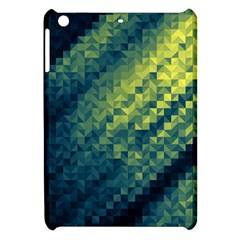 Polygon Dark Triangle Green Blacj Yellow Apple Ipad Mini Hardshell Case by Mariart
