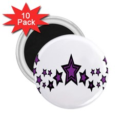 Star Purple Space 2 25  Magnets (10 Pack)  by Mariart