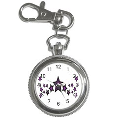 Star Purple Space Key Chain Watches by Mariart