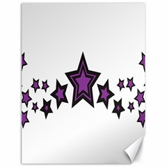 Star Purple Space Canvas 18  X 24