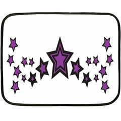 Star Purple Space Fleece Blanket (mini) by Mariart
