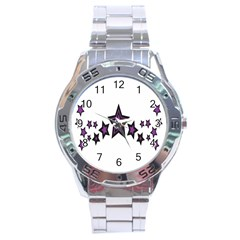 Star Purple Space Stainless Steel Analogue Watch by Mariart