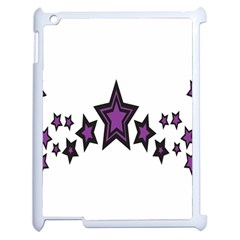 Star Purple Space Apple Ipad 2 Case (white) by Mariart