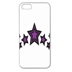 Star Purple Space Apple Seamless Iphone 5 Case (clear) by Mariart