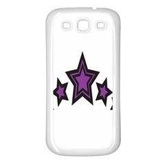 Star Purple Space Samsung Galaxy S3 Back Case (white) by Mariart