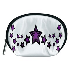 Star Purple Space Accessory Pouches (medium)  by Mariart