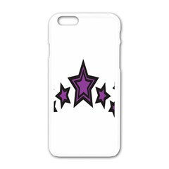 Star Purple Space Apple Iphone 6/6s White Enamel Case by Mariart