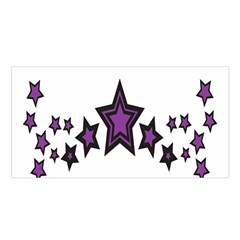 Star Purple Space Satin Shawl by Mariart