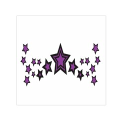 Star Purple Space Small Satin Scarf (square) by Mariart