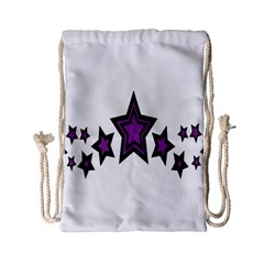 Star Purple Space Drawstring Bag (small) by Mariart