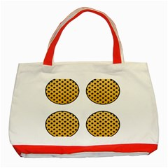 Star Circle Orange Round Polka Classic Tote Bag (red) by Mariart