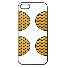 Star Circle Orange Round Polka Apple Iphone 5 Seamless Case (black)