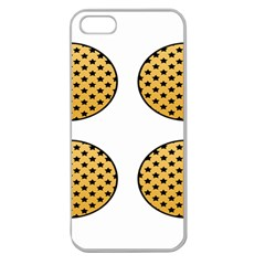 Star Circle Orange Round Polka Apple Seamless Iphone 5 Case (clear) by Mariart