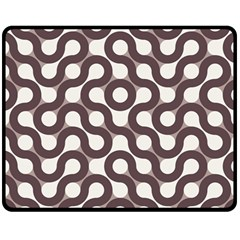Seamless Geometric Circle Double Sided Fleece Blanket (medium)  by Mariart