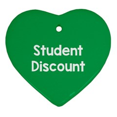 Student Discound Sale Green Ornament (heart) by Mariart