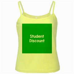 Student Discound Sale Green Yellow Spaghetti Tank by Mariart