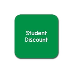 Student Discound Sale Green Rubber Square Coaster (4 Pack)  by Mariart
