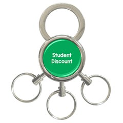 Student Discound Sale Green 3 Ring Key Chains