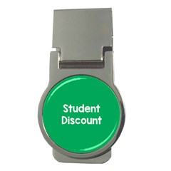 Student Discound Sale Green Money Clips (round)  by Mariart