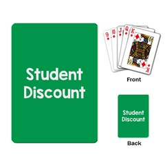 Student Discound Sale Green Playing Card by Mariart