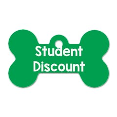 Student Discound Sale Green Dog Tag Bone (two Sides) by Mariart