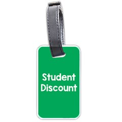 Student Discound Sale Green Luggage Tags (two Sides) by Mariart