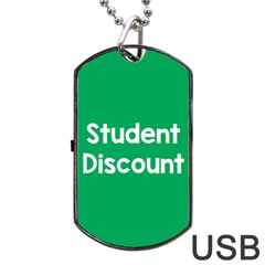 Student Discound Sale Green Dog Tag Usb Flash (one Side) by Mariart
