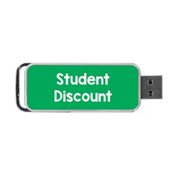 Student Discound Sale Green Portable Usb Flash (two Sides) by Mariart