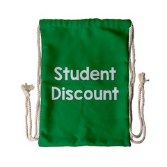 Student Discound Sale Green Drawstring Bag (small) by Mariart