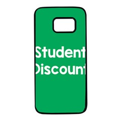 Student Discound Sale Green Samsung Galaxy S7 Black Seamless Case by Mariart