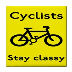Stay Classy Bike Cyclists Sport Tile Coasters by Mariart