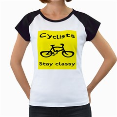 Stay Classy Bike Cyclists Sport Women s Cap Sleeve T by Mariart