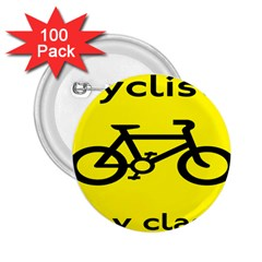 Stay Classy Bike Cyclists Sport 2 25  Buttons (100 Pack)  by Mariart