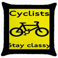 Stay Classy Bike Cyclists Sport Throw Pillow Case (black)