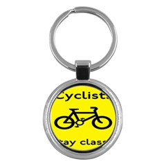 Stay Classy Bike Cyclists Sport Key Chains (round)  by Mariart