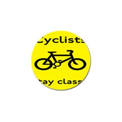 Stay Classy Bike Cyclists Sport Golf Ball Marker by Mariart