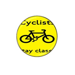 Stay Classy Bike Cyclists Sport Hat Clip Ball Marker by Mariart