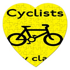 Stay Classy Bike Cyclists Sport Jigsaw Puzzle (heart) by Mariart
