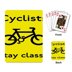 Stay Classy Bike Cyclists Sport Playing Card by Mariart