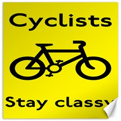Stay Classy Bike Cyclists Sport Canvas 16  X 16   by Mariart