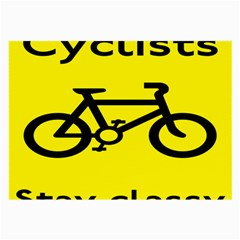 Stay Classy Bike Cyclists Sport Large Glasses Cloth (2 Side) by Mariart