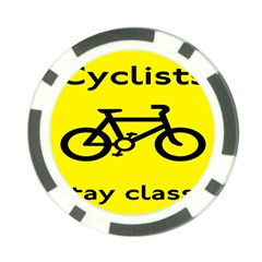 Stay Classy Bike Cyclists Sport Poker Chip Card Guard (10 Pack)