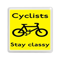 Stay Classy Bike Cyclists Sport Memory Card Reader (square)  by Mariart