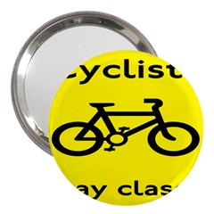 Stay Classy Bike Cyclists Sport 3  Handbag Mirrors by Mariart