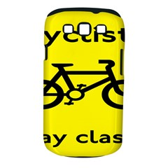 Stay Classy Bike Cyclists Sport Samsung Galaxy S Iii Classic Hardshell Case (pc+silicone) by Mariart